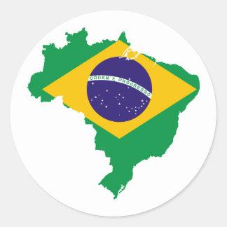 Brasil Round Sticker