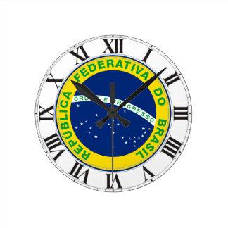 Brasil Seal Wall Clock