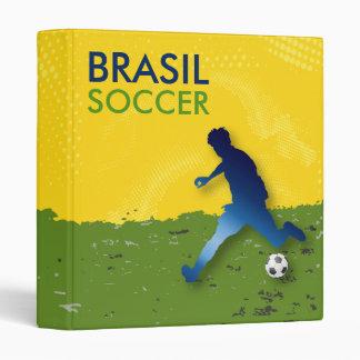 Brasil Soccer 3 Ring Binder