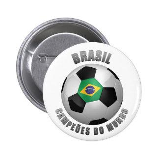 BRASIL SOCCER CHAMPIONS PINBACK BUTTONS