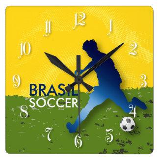 Brasil Soccer Wallclock