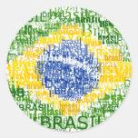 Brasil Text Flag Sticker