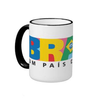 Brasil: Um País de Todos Ringer Coffee Mug