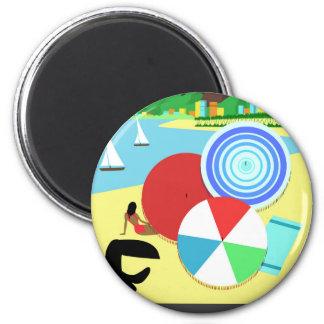 Brasil vintage retro Design 2 Inch Round Magnet