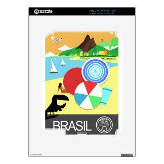 Brasil vintage retro Design iPad 2 Decals