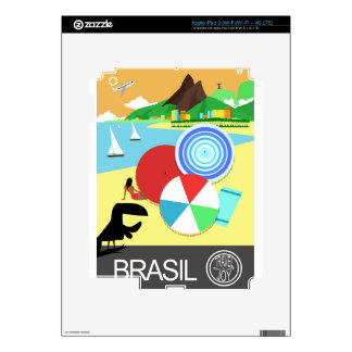 Brasil vintage retro Design Skins For iPad 3