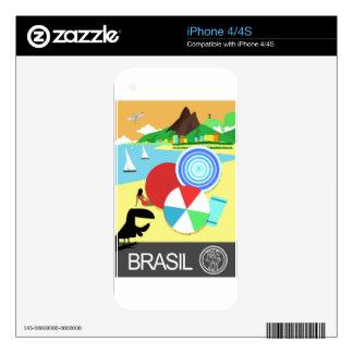 Brasil vintage retro Design Skins For The iPhone 4S