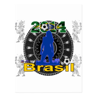 BRASIL WORLCUP GIRL GIFTS CUSTOMIZABLE PRODUCTS POSTCARD