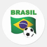 Brasil World Cup t-shirt Classic Round Sticker
