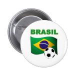 Brasil World Cup t-shirt Pinback Buttons