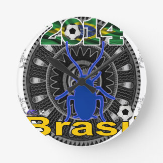 BRASIL WORLDCUP CUCARACHA CUSTOMIZABLE CLOCKS