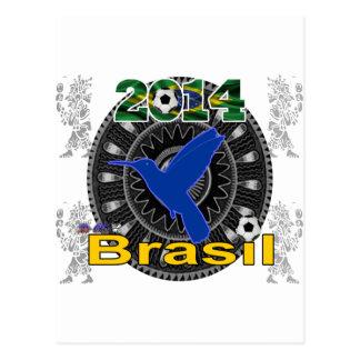 BRASIL WORLDCUP  HUMMINGBIRD CUSTOMIZABLE POSTCARD