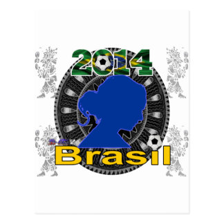 BRASIL WORLDCUP  LADY  CUSTOMIZABLE PRODUCTS POSTCARD