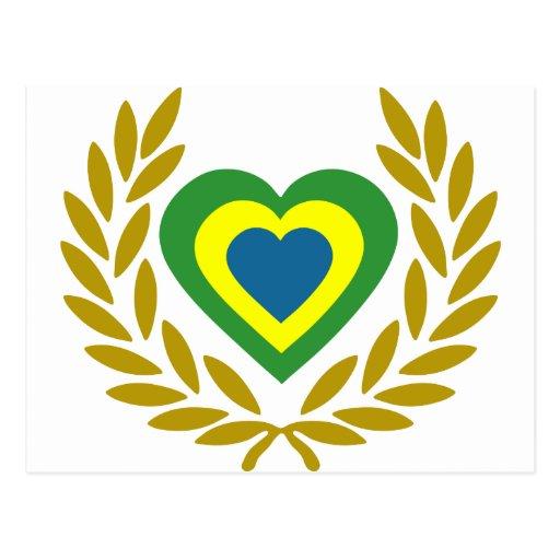 brasile-laurel-heart. postcard