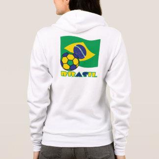 Brasileiro Futebol e Bandeira Hoodie