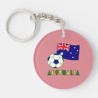 Brasileiro Futebol e Bandeira Keychain