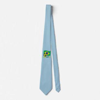 Brasileiro Futebol e Bandeira Neck Tie