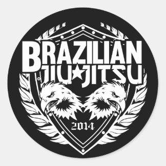 Brasilen@o adaptable Jiu-Jitsu Etiqueta Redonda
