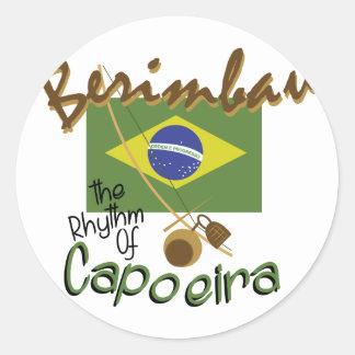 Brasilen@o Berimbau Pegatina Redonda