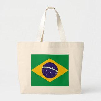 Brasilen@o de la bandera del Brasil Bolsa Tela Grande