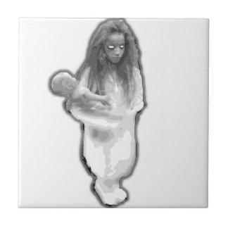 Brasilen o de la niña de la broma del fantasma del tejas  ceramicas