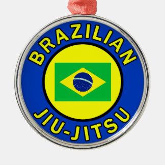 Brasilen@o Jiu-Jitsu Adorno Navideño Redondo De Metal