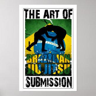 Brasilen o Jiu JItsu - arte del poster de la prese
