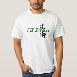 Brasilen@o Jiu Jitsu con los caracteres japoneses Playera