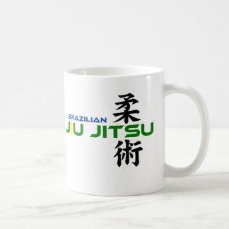 Brasilen@o Jiu Jitsu con los caracteres japoneses Taza Clásica