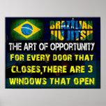 Brasilen@o Jiu Jitsu - el arte del poster de la op