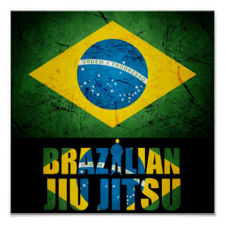 Brasilen@o Jiu Jitsu - poster brasileño de BJJ de