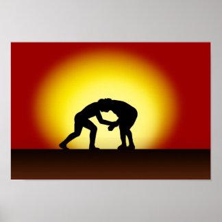 Brasilen@o Jiu Jitsu - poster de la puesta del sol