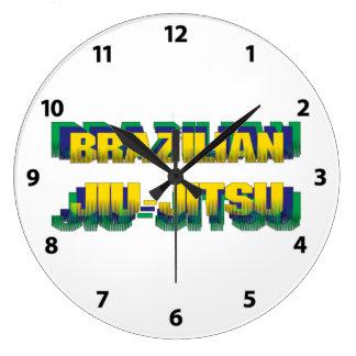 Brasilen@o Jiu-Jitsu Reloj Redondo Grande