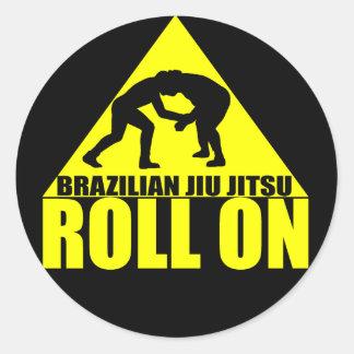 "Brasilen@o Jiu JItsu ""rollo en"" el pegatina"