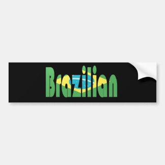brasileño pegatina de parachoque