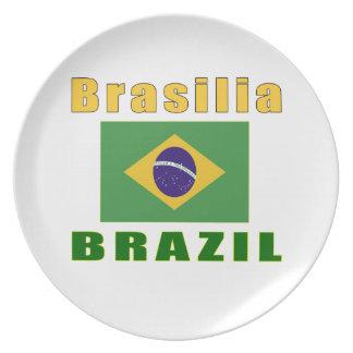 Brasilia Brazil capital designs Plate