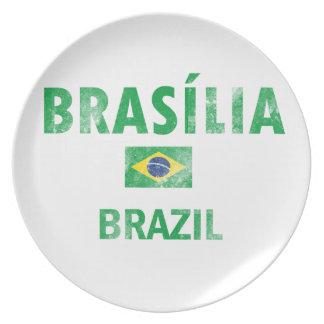 Brasilia Brazil Designs Dinner Plates