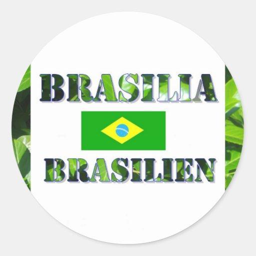 Brasilia Pegatina Redonda