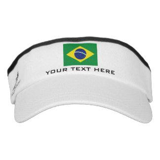 Brasilian flag sports sun visor cap hat for Brasil