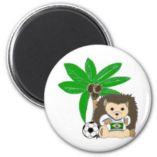 Brasilian HedgeHog Refrigerator Magnets