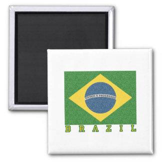 Brasilian soccer 2010 2 inch square magnet