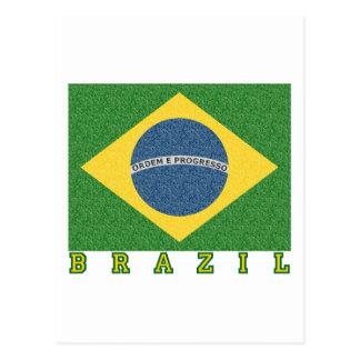 Brasilian soccer 2010 postcard