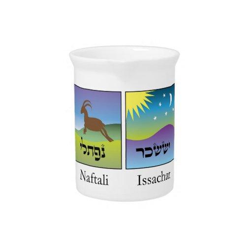 Brasões das dormita el conforme de Tribos de Israe Jarras Para Bebida