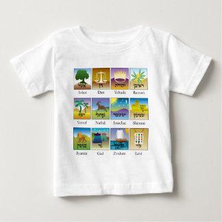 Brasões das Doze Tribos de Israel conforme a Torah Baby T-Shirt