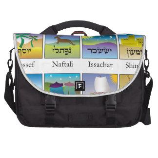 Brasões das Doze Tribos de Israel conforme a Torah Laptop Commuter Bag