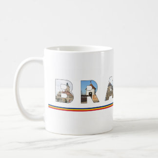 brasov city romania landmark inside name symbol coffee mug