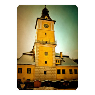 Brasov Council tower painting Invitation Card
