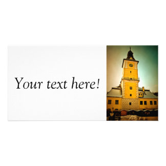 Brasov Council tower painting Photo Greeting Card