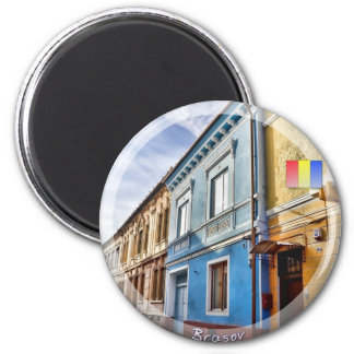 Brasov street 2 inch round magnet