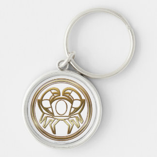 Brass and Copper Cancer Zodiac Astrology Keychain